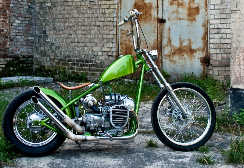 a view on a custom bobber from the right