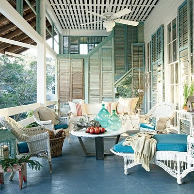 Upcycle Shutters As A Room Divider Or In This Case An Outdoor Porch Divider