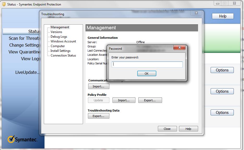 update symantec virus definitions command line