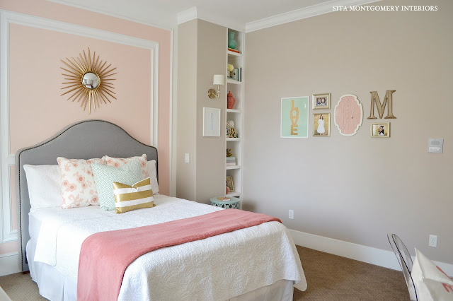 girls pink desk chair papasan double frame sita montgomery interiors: my home: tween bedroom reveal