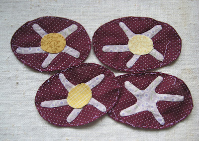 for Linda Brannock's Flowers quilt, Glory centers