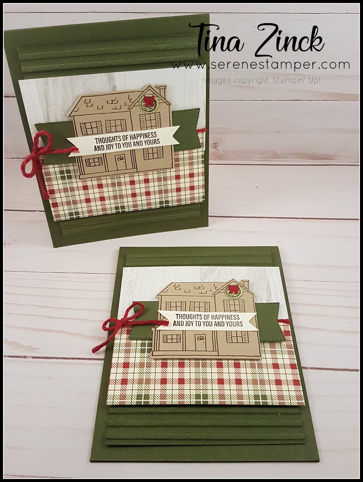 The Serene Stamper: Festive Farmhouse Christmas Card - VIDEO