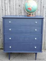 antique glass knob and dresser