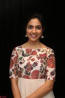 Ritu Varma smiling face Cream Anarkali dress at launch of OPPO New Selfie Camera F3 ~  Exclusive 007.JPG