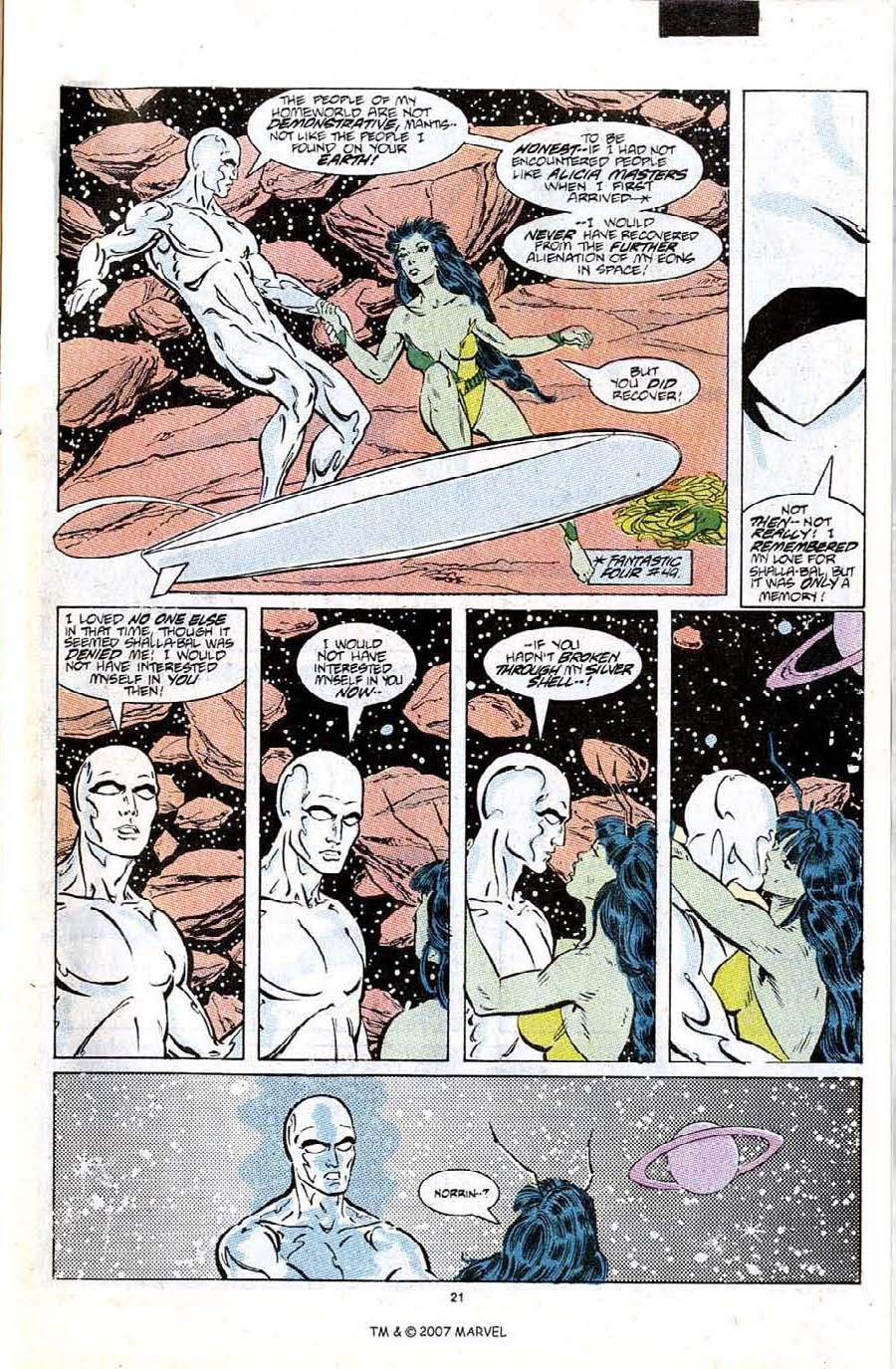 Read online Silver Surfer (1987) comic -  Issue #6 - 31