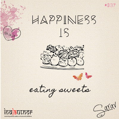 Happiness is eating sweets!