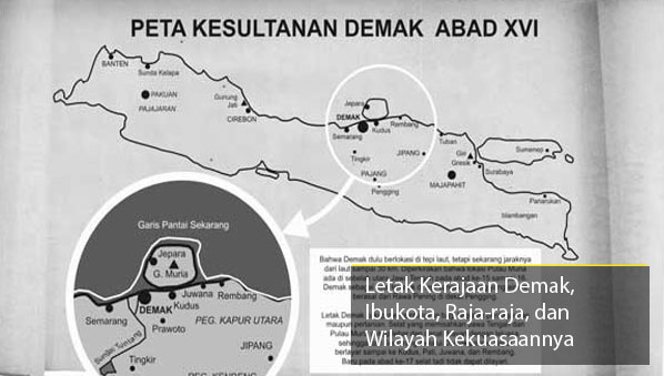 Letak Kerajaan Demak Ibukota Peta Wilayah Kekuasaan Ips Mudah Gambar