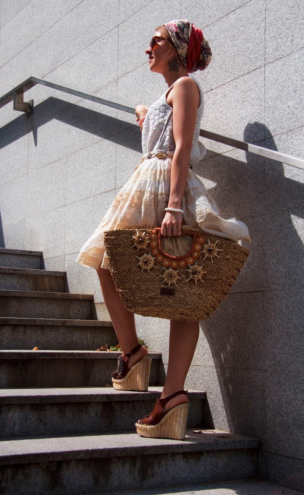 Koronkowa spódnica i top Zara