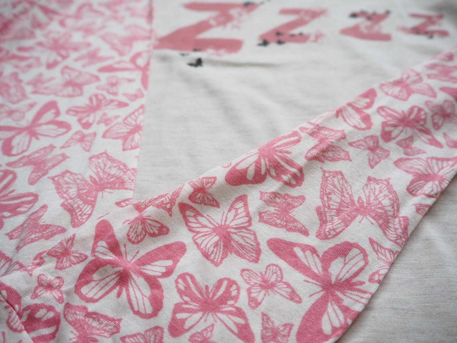 Primark Butterfly Pyjama Top