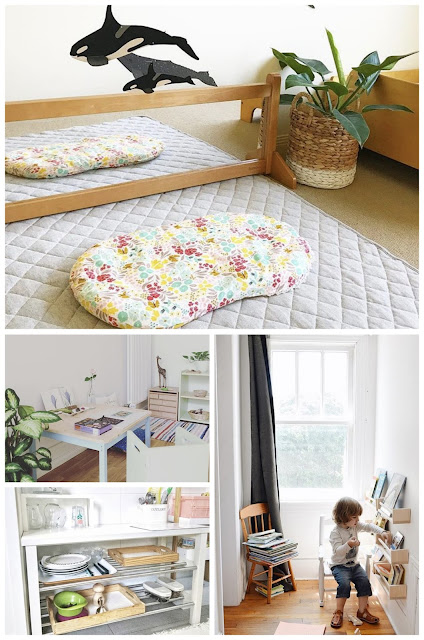 6 Inspiring Montessori home spaces from Instagram.