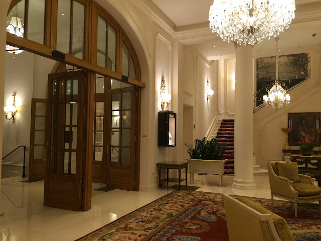 Ritz Paris staircase and seating area