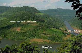 Morro do Céu, Rio das Antas e Usina