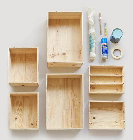 Super Aménager une chambre d'enfants avec des caisses de vin en bois SE17