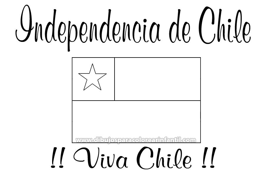 Dibujo De Chilena Para Colorear: Bandera Chilena Para Colorear E Imprimir