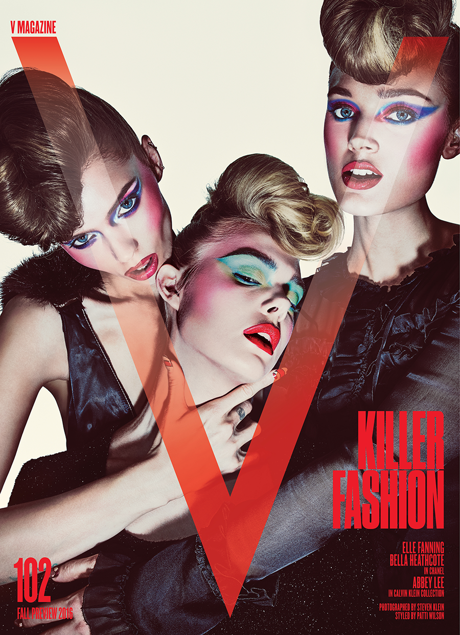 Elle Fanning, Bella Heathcote and Abbey Lee for V Magazine #102