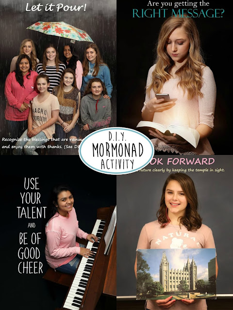 Young Women LDS Activity creating Mormonads - ldslane.net