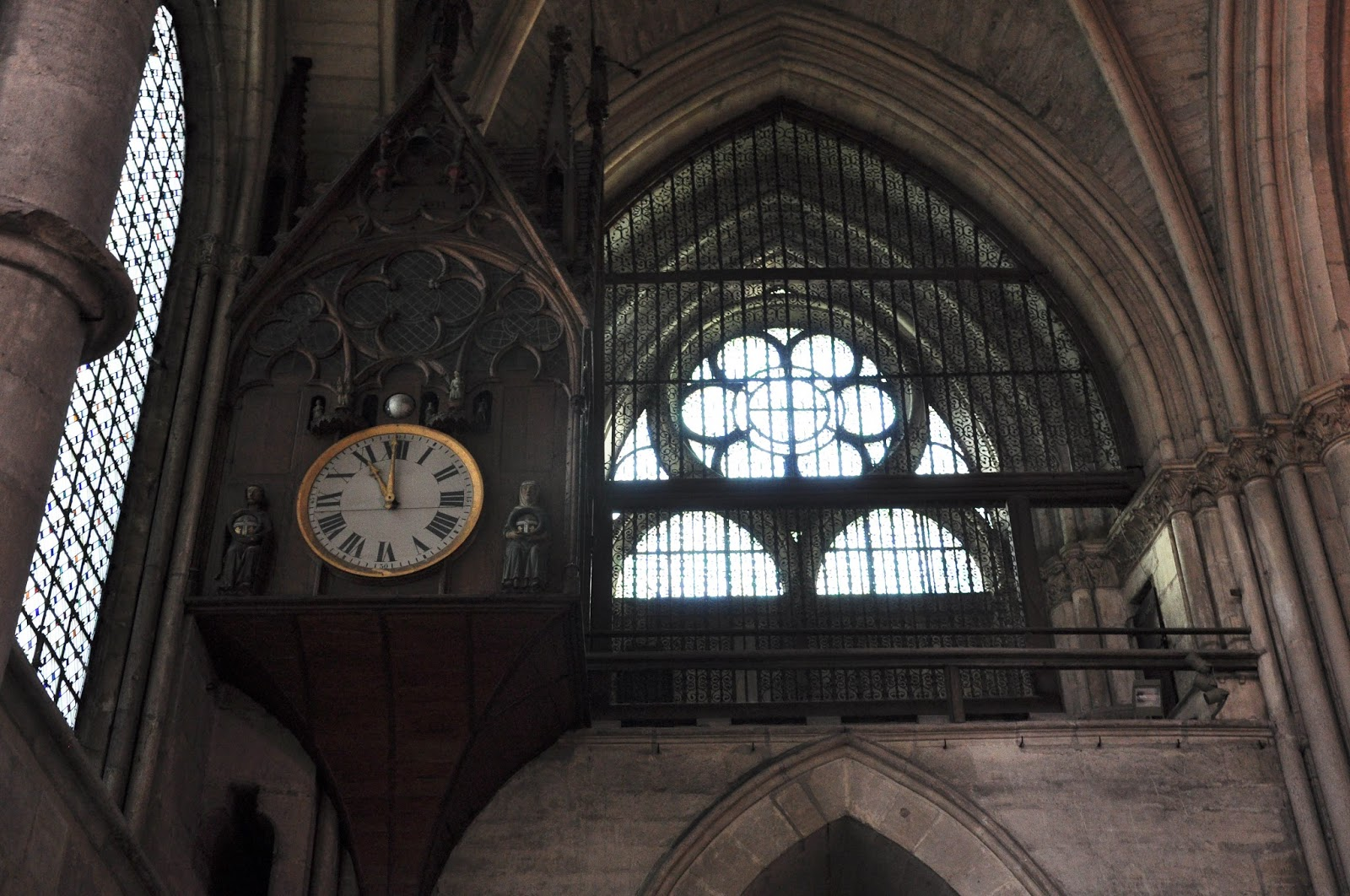 The clock inside the cathedral, Reims Cathedral, Reims, France