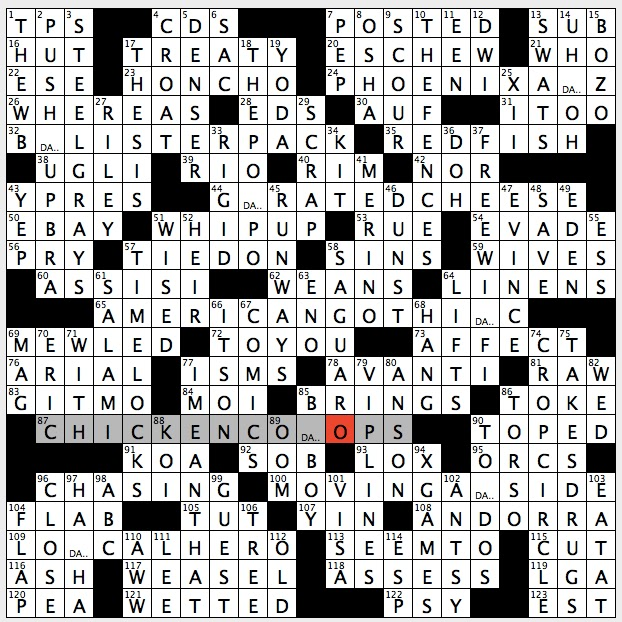 Rex Parker Does The Nyt Crossword Puzzle Onward In Italy Sun 9 18 16 Reef Dwelling Snapper Sage Swamp Dweller Of Film Start Of Legalese Paragraph Handy Take Along Guy Into Hip Hop