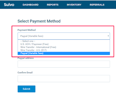 sulvo cpm ad network payment methods