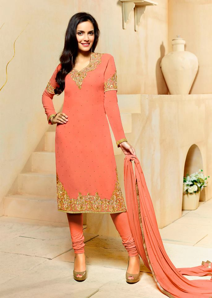 Traditional Indian Party Wear Dresses 2016 In Pink Color ...