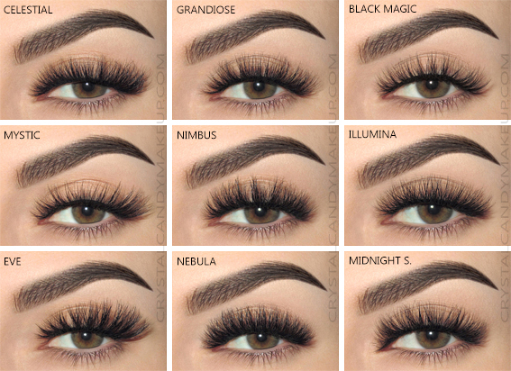 Esqido Lashes Noire Collection Mystic Grandiose Illumina Eve Celestial Midnight Symphony Black Magic Nebula Nimbus