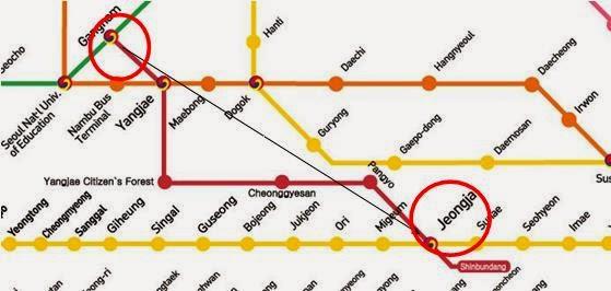 Jeongja Station Subway Map.Annyeong Korea Part 5 Katty Tan