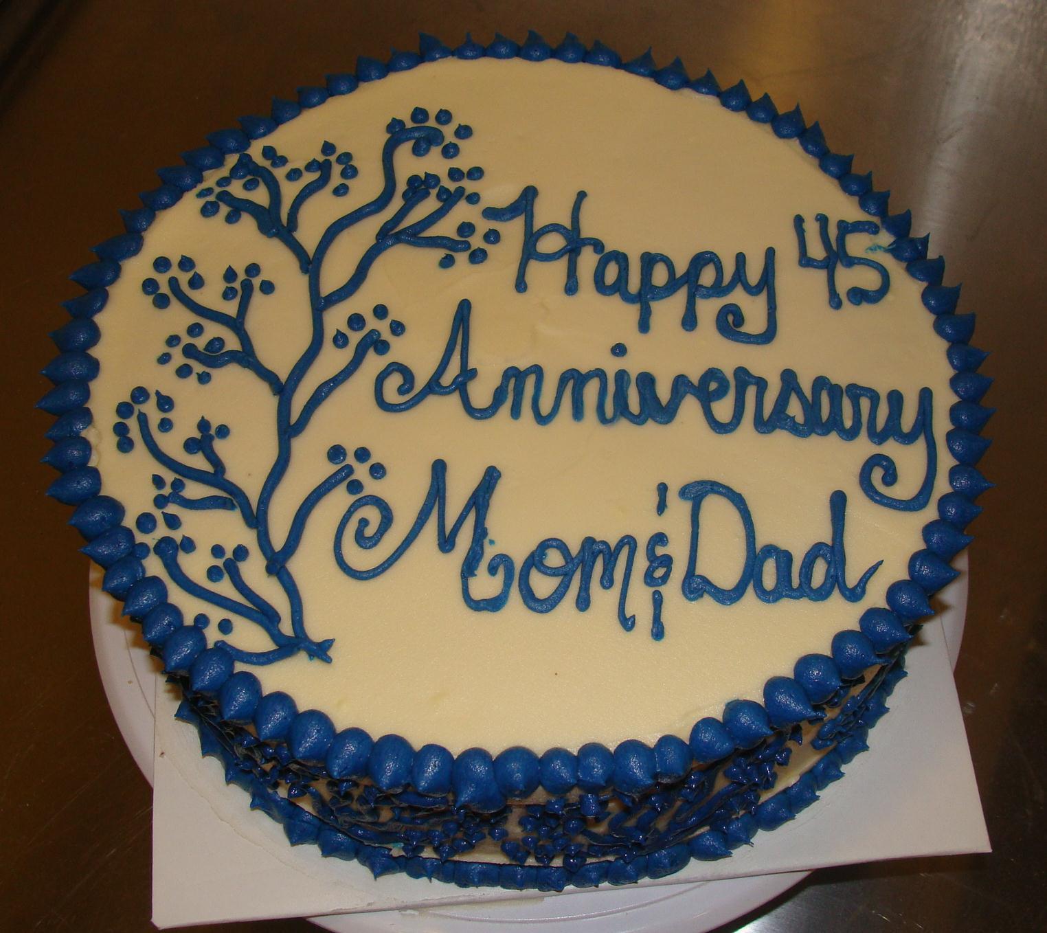 Linda And Giz S 45th Wedding Anniversary Cake