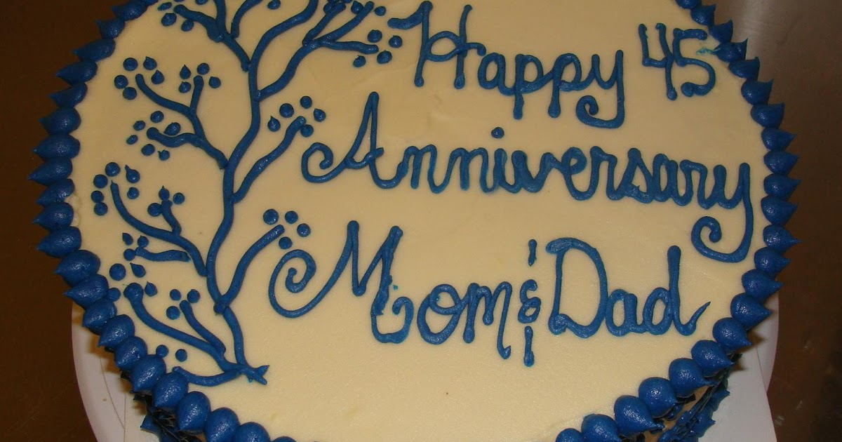 Traditional 45th Wedding Anniversary Gift: Door County Custom Cakes And Cookies: Linda And Giz's 45th
