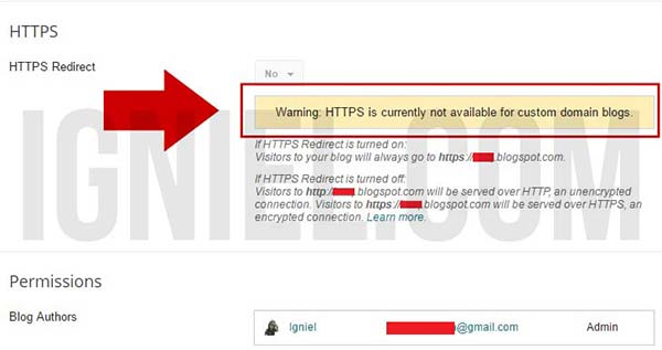 Cara Pasang SSL di Blogspot Custom Domain
