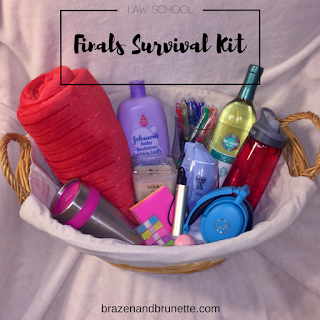 law school finals survival kit | brazenandbrunette.com