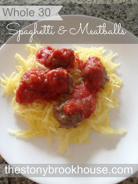 Whole 30 Spaghetti & Meatballs
