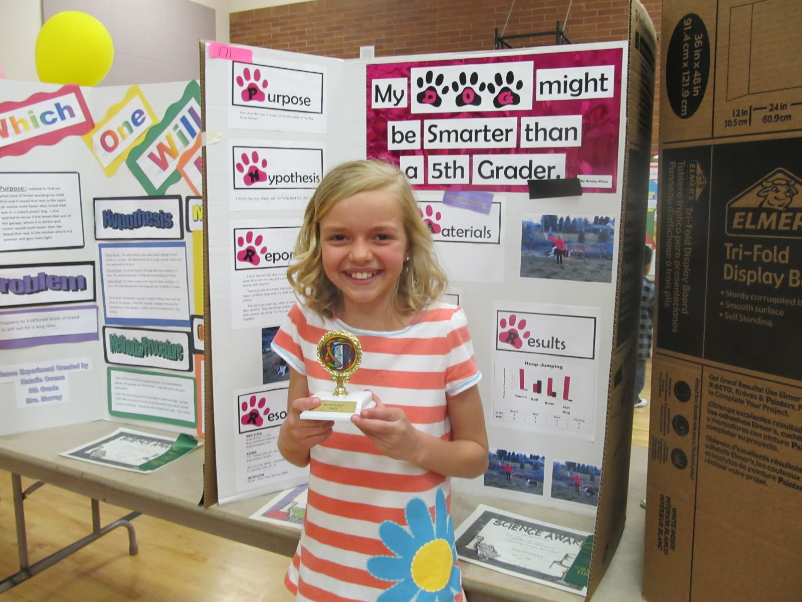 5th Grade Winner Brinley Did A Fabulous Experiment With