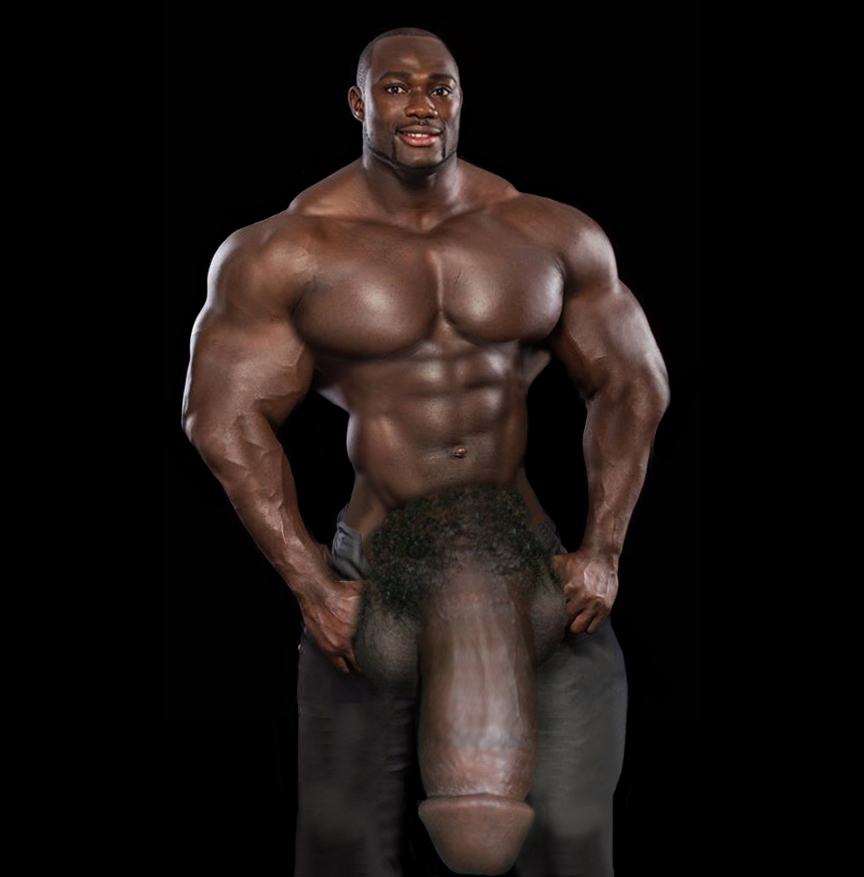 Antoine Grant doesn't even try to cover his gigantic monster-headed hard  cock. And JK's just starting out, but his massive bulge is getting ready to  burst ...