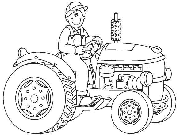 Desenho De Trator Retroescavadeira E Escavadeira Para
