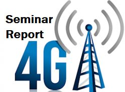4G Seminar report ppt download