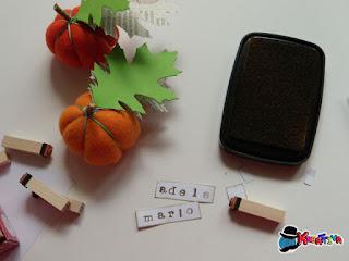 come usare i timbri per creare segnaposti