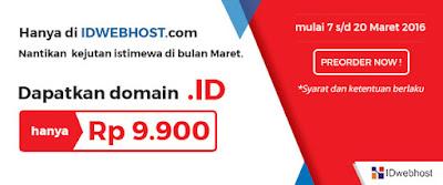 Domain Dot ID Cuma Rp 9.900 per Tahun