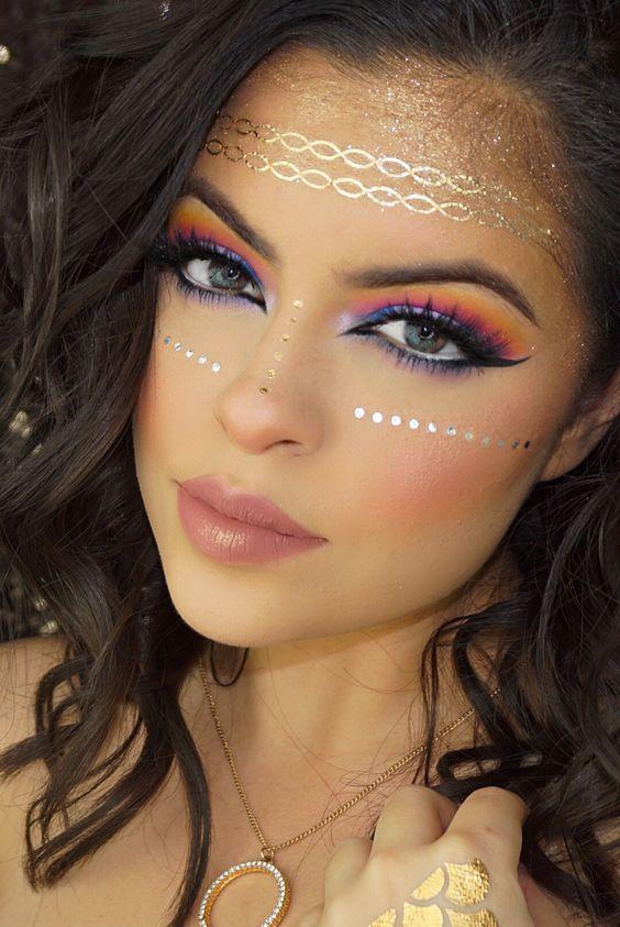 Makeup, halloween makeup ideas, halloween makeup looks, Cute Halloween Makeup, Last minute Halloween Makeup ideas, not so scary halloween makeup looks,