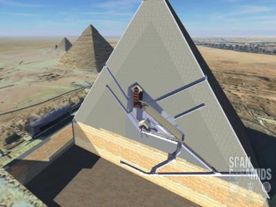 Hallan dos cavidades en la Gran Pirámide de Keops