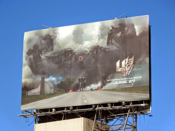 Transformers Age of Extinction teaser billboard
