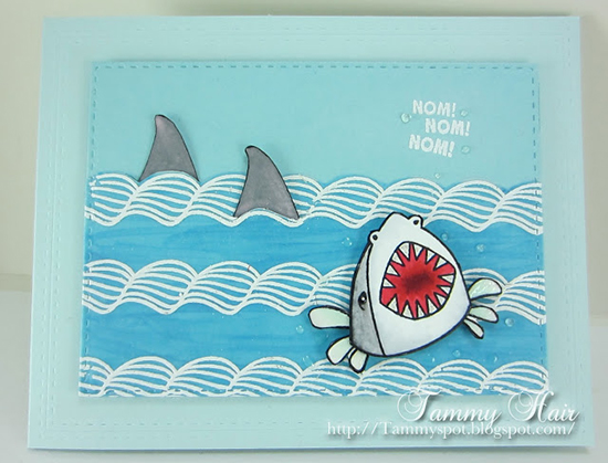 Summer Shark card by Tammy  | Shark Bites stamp set by Newton's Nook Designs