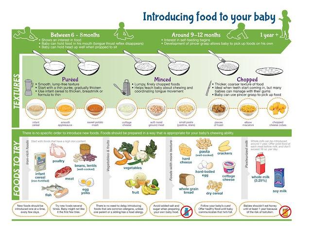 tekstur dan jenis makanan dalam MPASI WHO