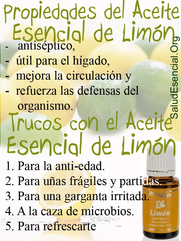 BENEFICIOS DE ACEITE ESENCIAL DE LIMÓN