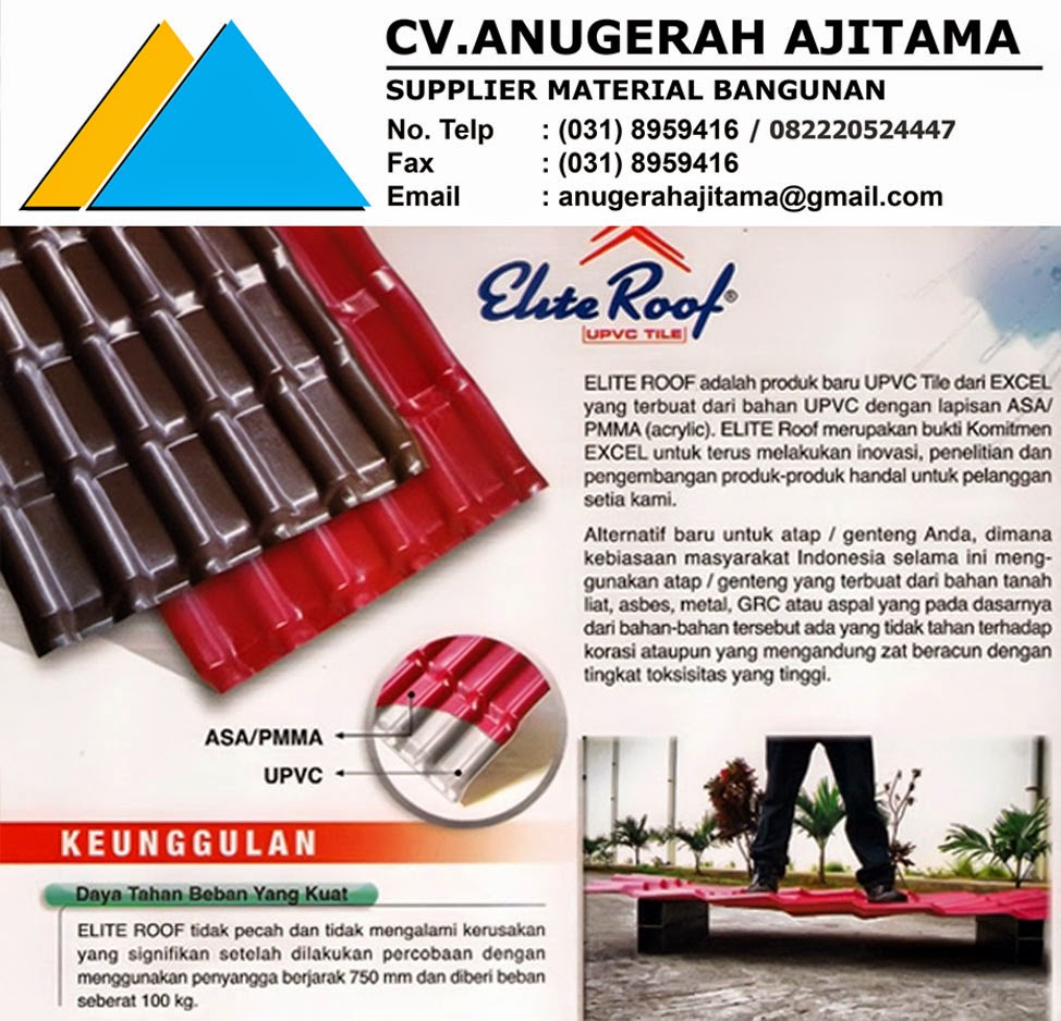 KEUNGGULAN ATAP UPVC ELITE ROOF