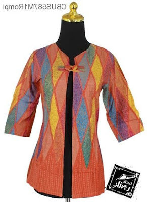 Contoh Rompi Baju Batik Wanita Terbaru