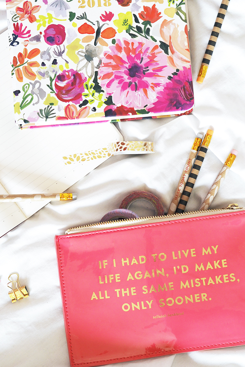 Back To Uni College School Student Stationery Essentials Kate Spade Rooi | Colours and Carousels - Scottish Lifestyle, Beauty and Fashion blog