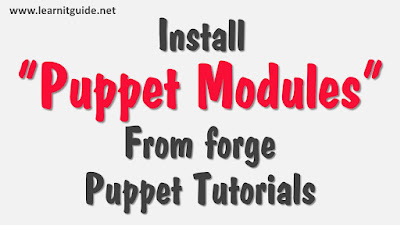 Install Puppet Modules from forge - Puppet tutorials