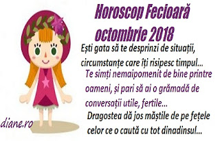 Horoscop Fecioară octombrie 2018