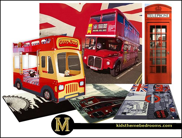 Bring city life into your home with this amazing retro London rug