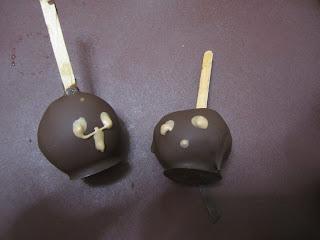 Pop cake d'Halloweenau chocolat, Nutella, Kinder